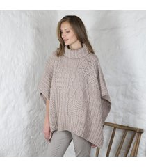 merino wool ladies cowl cape beige