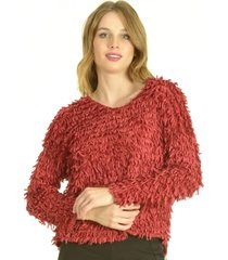 sweater flecos burdeo bou's