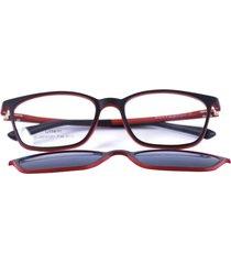 gafas monturas clic solar oftálmicas rojo/ negro  san marino