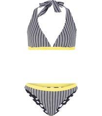 bikini reversibile all''americana (set 2 pezzi) (nero) - bpc bonprix collection