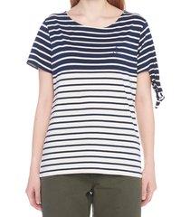 j.w. anderson breton stripe knot t-shirt