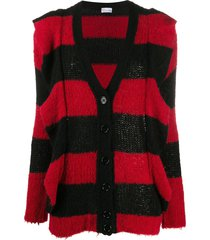 redvalentino striped maxi cardigan