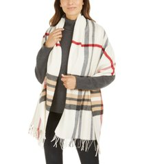 v. fraas exploded plaid wrap cash mink scarf