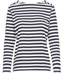 d1. striped top t-shirts & tops long-sleeved blauw gant