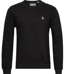 small logo sweatshirt sweat-shirt tröja svart original penguin