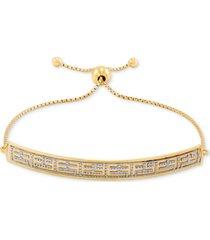 effy two-tone logo bolo bracelet in 14k gold
