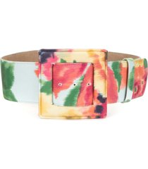 carolina herrera tie-dye buckle belt - multicolour