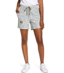 women's laila ali patch pocket shorts, size medium - brown