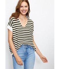 loft striped v-neck poncho sweater
