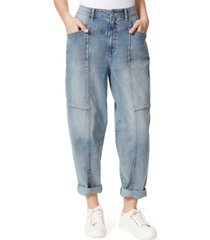 frayed seamed baggy jeans
