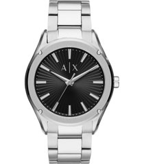 ax armani exchange men's fitz stainless steel bracelet watch 44mm