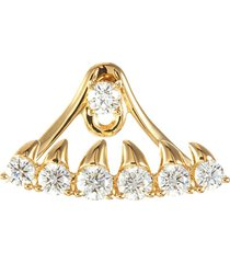 'gulper' diamond detachable teeth jacket single earring