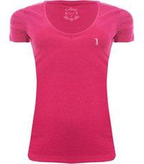 camiseta gola v básica aleatory feminina