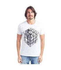camiseta bossa brasil cubo manga curta masculina
