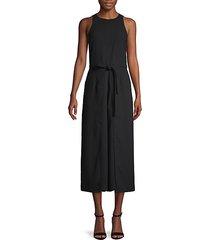 tie-waist wide-leg jumpsuit