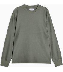 mens green twill sweatshirt