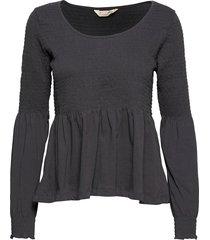 valerie top blouse lange mouwen zwart odd molly