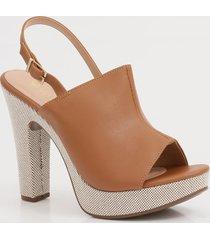 sandália feminina open boot meia pata via uno