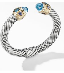 david yurman renaissance cuff bracelet with 14k yellow gold, size medium in sky blue topaz at nordstrom