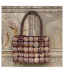 coconut shell handbag, 'sunflower' (thailand)