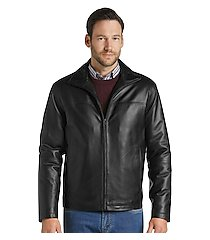 reserve collection traditional fit leather jacket clearance