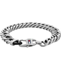 tommy hilfiger mens stainless steel chain bracelet