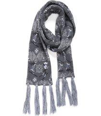 muk luks women's traditional tassel scarf