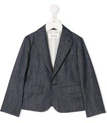 bonpoint chambray blazer - blue