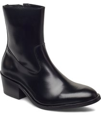 cadria shoes boots ankle boots ankle boot - heel svart tiger of sweden
