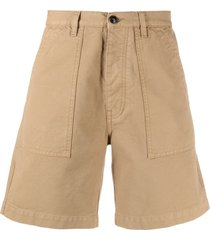 fortela rebelt cotton bermuda shorts - brown