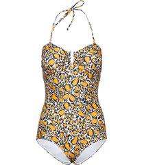 kellygz swimsuit ao19 baddräkt badkläder orange gestuz