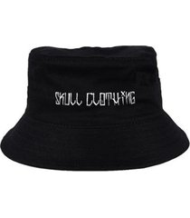 chapéu bucket skull clothing skull chicano - unissex