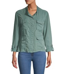 sanctuary women's trellis safari jacket - trellis - size m