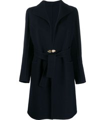 a.n.g.e.l.o. vintage cult 1960's gibo clasp belted coat - blue