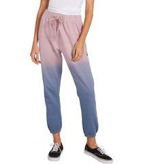 women's volcom stone fleece pants, size small - purple