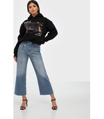 calvin klein jeans seamed wide leg straight