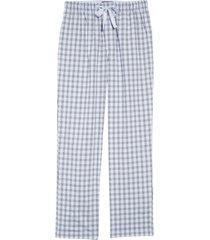 men's nordstrom men's shop poplin pajama pants, size small - blue