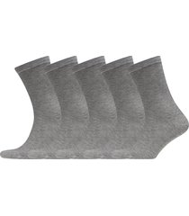 5p bamboo solid crew sock underwear socks regular socks grå frank dandy