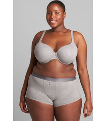 lane bryant women's cotton lightly lined t-shirt bra 38c summer grey
