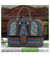 cotton travel bag, 'banda bay' (indonesia)