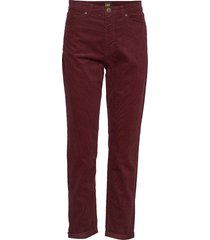 mom straight rechte jeans rood lee jeans