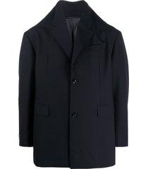 doublet high-collar jacket - blue