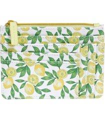 buxton women's lovely lemons rfid pik-me-up slot coin pouch