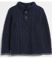 chaleco sherpa toddler boy azul gap