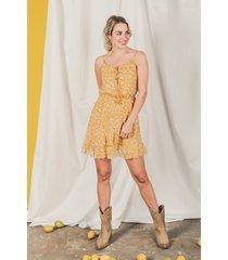 femme9 jurk geel sterre