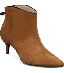 casie suede shoes boots ankle boots ankle boot - heel brun custommade