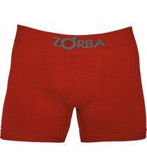 cueca boxer zorba algodão sem costura 781 vermelho escuro