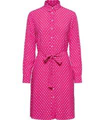 d1. desert jewel print shirt dress kort klänning rosa gant