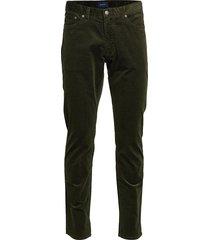 d1. slim cord jeans slim jeans groen gant