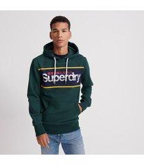 buzo cerrado para hombre core logo stripe hood ub superdry